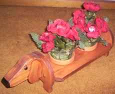dachshund flower planter